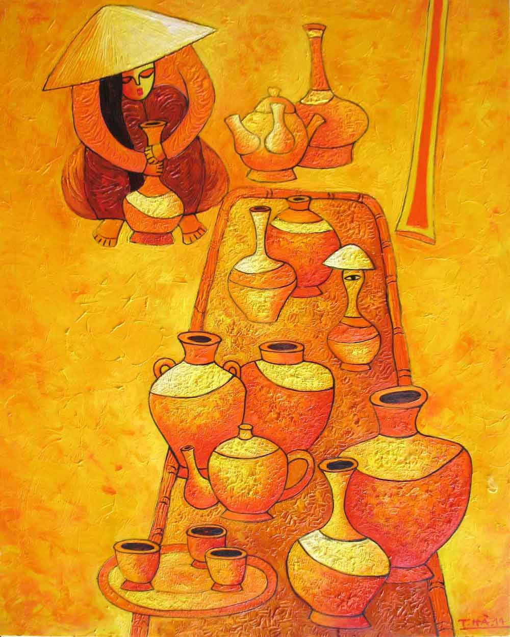 (ID.-06)--Title.-Pottery-market,-Size.-100x81cm,-Price.