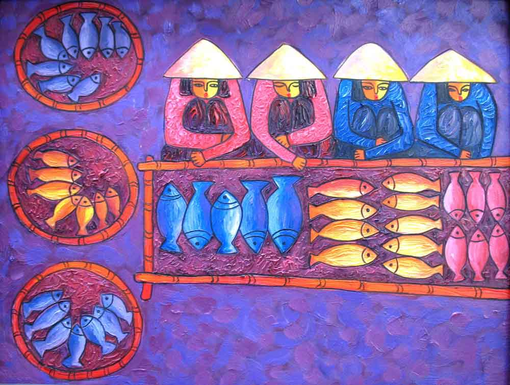 (ID.-07)--Title.-Fishery-market,-Size.-61x80cm,-Price.